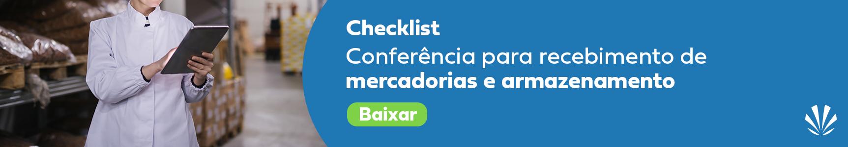 Conferencia para recebimento de mercadorias e armazenamento