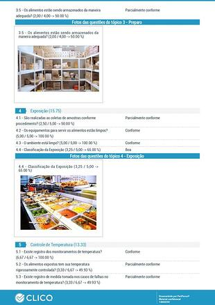 Tela aplicativo Clicq para segurança alimentos