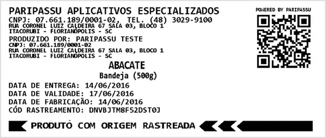 Etiqueta Paripassu QR code