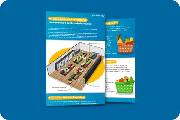 Infográfico - Modelo para layout e hortifrúti