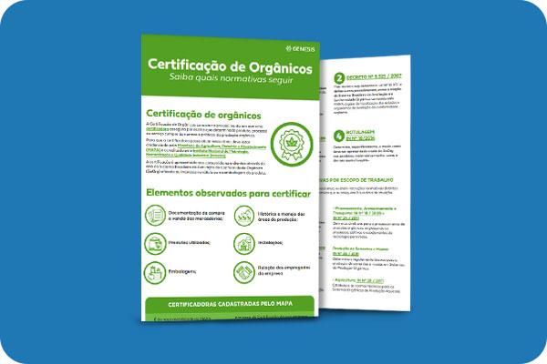Infográfico - Principais legislações e normativas para organicos