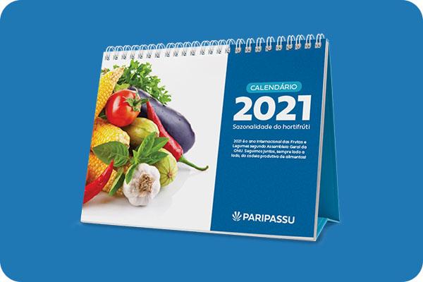 Calendário 2021: Sazonalidade do hortifrúti
