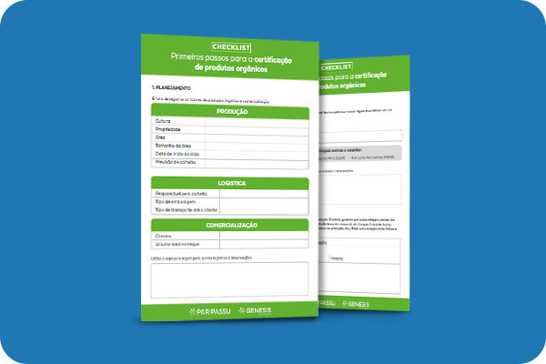 Primeios passo para certificação de orgânicos